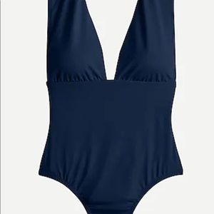 Deep V one piece bathing suit